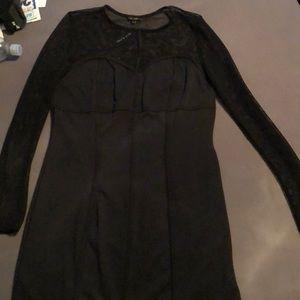 River Island Black Mesh fishnet dress size 12